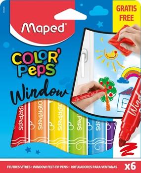 Marcadores color peps window x 6