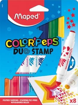 Marcadores Maped color peps con sellos x8 - nuevos!