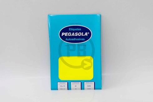 Etiqueta Pegasola fluo 75 x 103 mm amarillo