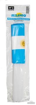 Banderita plástica Argentina 15 x 21 x docena