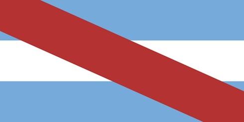 Bandera ceremonia provincia Entre Ríos grande