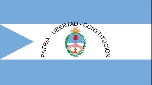 Bandera ceremonia provincia Corrientes bordada grande