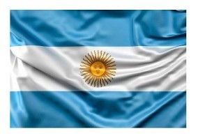 Bandera ceremonia jardin - Argentina 45 x 70 con sol