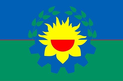 Bandera ceremonia jardin - provincia Buenos Aires bordada