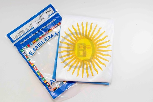 Bandera poliamida 130 x 300 con sol