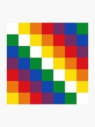 Bandera pueblos originarios (wiphala)90 x 90