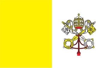 Bandera papal con escudo 90 x 150 poliamida