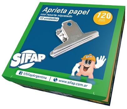 Aprieta papel niquelado Sifap 145 mm c/u