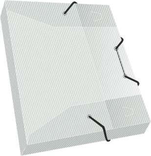 Caja archivo plástica con elástico Rideo 1/2 oficio lomo 2,5 cm