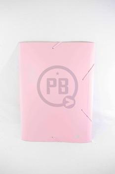 Caja archivo plástica con elástico Rideo spring oficio lomo 2 cm