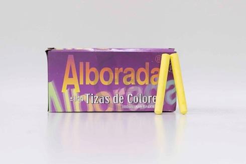 Tiza Alborada amarilla x 144 unidades
