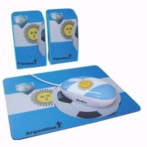 Kit Kolke mouse + parlante + pad argentina