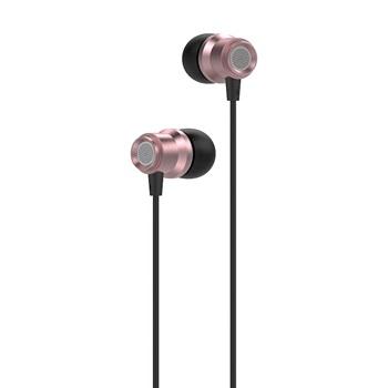 Auricular Havit earphone con micrófono rosa e72p1 metal
