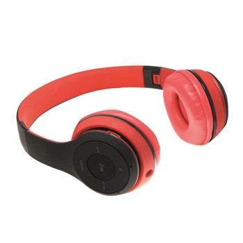 Auricular vincha Havit bluetooth Micro sd+fm h2575 rojo/negro