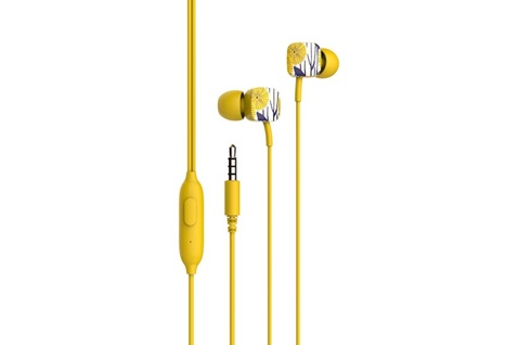 Auricular Havit earphone pop amarillo pastel e58p