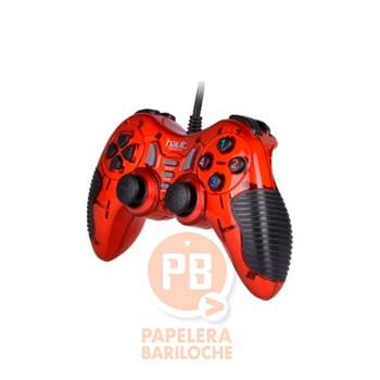 Gamepad usb p/pc y ps3 Havit rojo