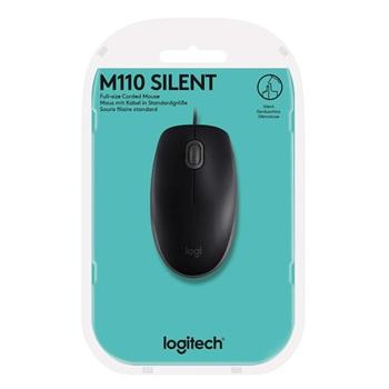 Mouse Logitech usb silent pc/mac m110 negro