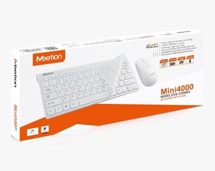 Combo inalambrico meetion mini teclado + mouse blanco