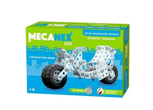 Juego de contruccion mecanex k50 127 pcs (armar 3 modelos)