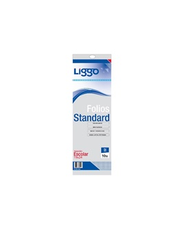 Folio Liggo standard pp 30 mic escolar x 10u