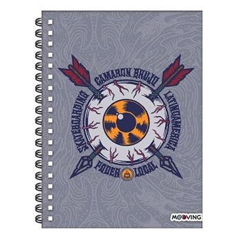 Cuaderno 16 x 21 camaron brujo tapa dura 80 hojas espiral