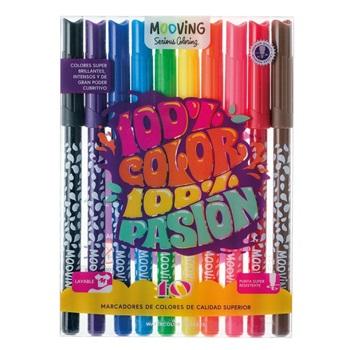 Marcador Mooving coloring x 10