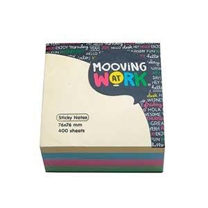 Block adhesivo Mooving 76 x 76 x 400h neon ART 2100116