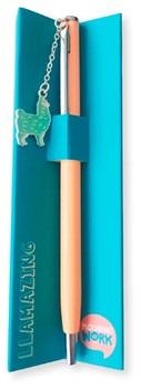 Bolígrafo metálico con colgante Mooving At Work llamazing ART2022160101