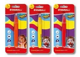 Crayón para la cara Simball blister x 1 amarillo