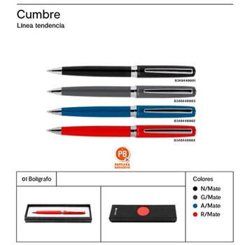 Bolígrafo Micro vip cumbre negro