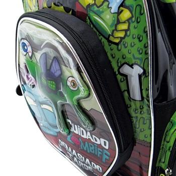 "Mochila Ultra Zombies ARTom241 espalda 16"" c/slime"