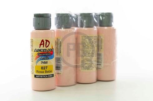 Acrílico decorativo Artística Dibu AD 60 ml 027-rosa bebe