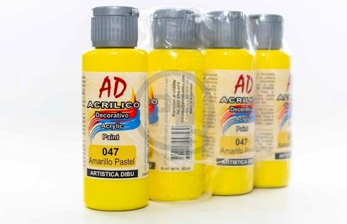 Acrílico decorativo Artística Dibu AD 60 ml 047-amarillo pastel