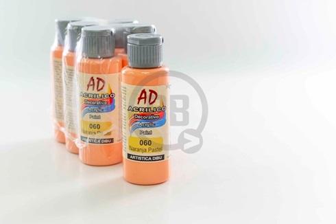 Acrílico decorativo Artística Dibu AD 60 ml 060-naranja pastel
