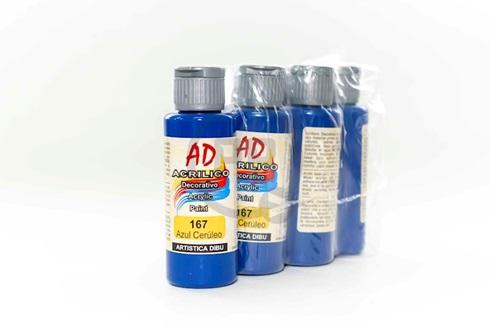 Acrílico decorativo Artística Dibu AD 60 ml 167-azul ceruleo