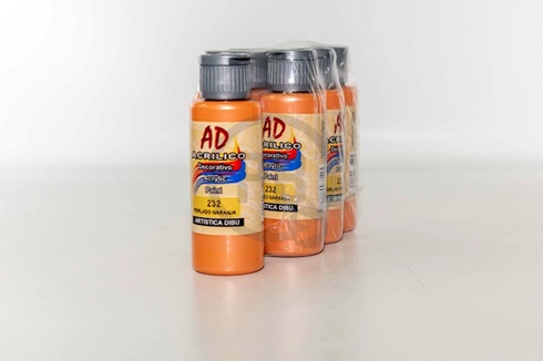 Acrílico decorativo Artística Dibu AD 60 ml 232-perlado naranja