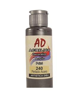 Acrílico decorativo Artística Dibu AD 60 ml 240-perlado acero