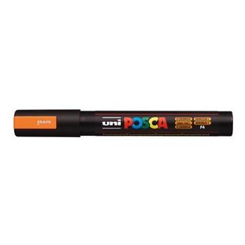 Marcador Uni-POSCA 5m 2,5 mm punta cónica naranja fluo